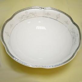 Салатник 13 см. Bolero E361 6388/4 pl ZP серебро+орнаментом из фарфора Сmielow