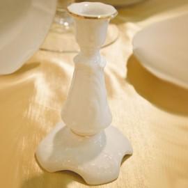Подсвечник 1 свеча Rococo 3604 two lines gold из фарфора Сmielow