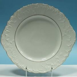 Тарелка с ушками 29см Rococo 3604 two lines gold из фарфора Сmielow