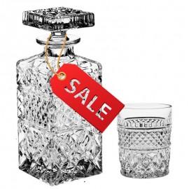 "Набор для виски ""MADISON"": 1 штоф 700 мл + 6 стаканов (240 мл) из хрусталя Crystal Bohemia"
