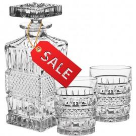 Набор для виски 10300 1 штоф 700 мл + 2 стакана 240 мл из хрусталя Crystal Bohemia