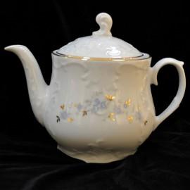 Чайный сервиз 15пр Rococo 9706 голубой цветок из фарфора Сmielow