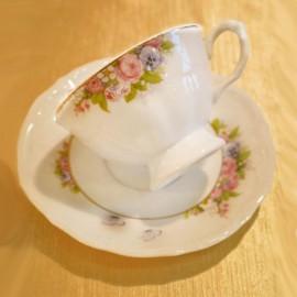 Чайная пара 220 мл (*6шт) Maria-teresa G158 из фарфора Сmielow