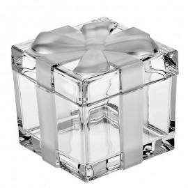 Доза-шкатулка с матовым бантом BOXES 11,5 см. из хрусталя Crystal Bohemia