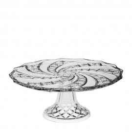 Тарелка для торта Cake plates 30,5 см. на ножке из хрусталя Crystal Bohemia