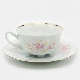 Чайная пара 6 пр. Bolero 9704 rozowe из фарфора Сmielow