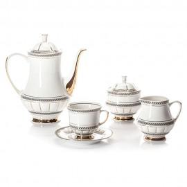 Чайный сервиз 6 персон 15 предметов Berni B019 из фарфора Сmielow