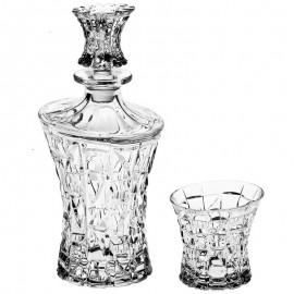 "Набор для виски ""Patriot"" 1 штоф 700 мл + 6 стаканов 200 мл из хрусталя Crystal Bohemia"