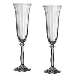 Бокал для шампанского Анжела 40600/opt/190 объёмом 190 мл. 6 шт. Crystalex Bohemia
