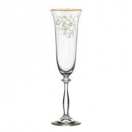 Бокалы для шампанского Анжела 436091 190 мл. 6 шт. Crystalex Bohemia