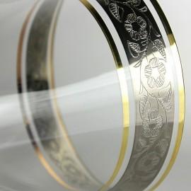 Бокалы для бренди Анжела 43249 панто платина 400 мл. 6 шт. Crystalex Bohemia
