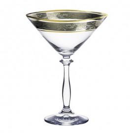 Бокалы для мартини Анжела 43249 панто платина 285 мл. 6 шт. Crystalex Bohemia