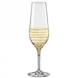 Бокалы для шампанского Аморосо M8441 200 мл. 2 шт. Crystalex Bohemia