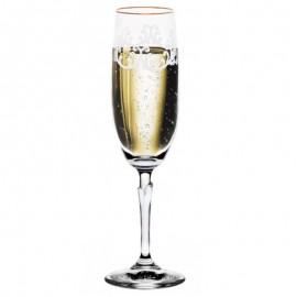 Бокалы для шампанского Бриджита 387507 снежок 190 мл. 6 шт. Crystalex Bohemia