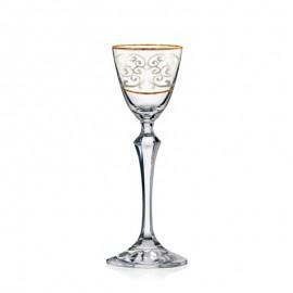 Рюмка Элизабет Q7930 две серебряные полосы+ панто 70 мл. 6 шт. Crystalex Bohemia