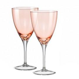 Бокалы для вина Кейт 40796 Colours красные 250 мл. 2 шт. Crystalex Bohemia