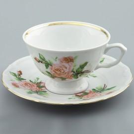 Чайная пара 220 мл (*6шт) Maria-teresa G195 из фарфора Сmielow