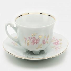 Кофейная пара 6 пр. Bolero 9704 rozowe из фарфора Сmielow