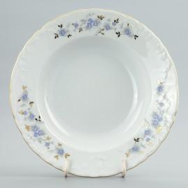 Тарелка суповая 22.5 см (набор) Rococo 9706 blue