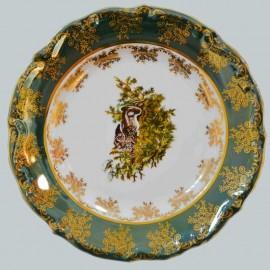 Тарелка мелкая 25см Охота зеленая МТ