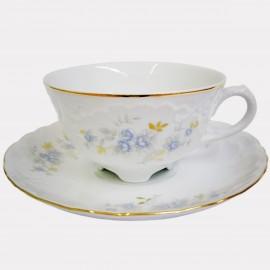 Чайная пара (набор) Rococo 9706 blue