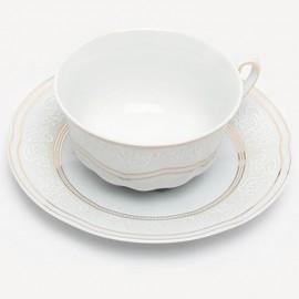Чайная пара 6 пр. Bolero G010 ETC 1002/09+szt.zl золото+орнамент из фарфора Сmielow