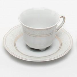 Кофейная пара 6 пр. Bolero G010 ETC 1002/09+szt.zl золото+орнамент из фарфора Сmielow