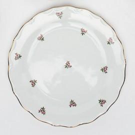 Тарелка мелкая 27 см. 6шт. Верона OMD1323 Газенка из фарфора Crystalex