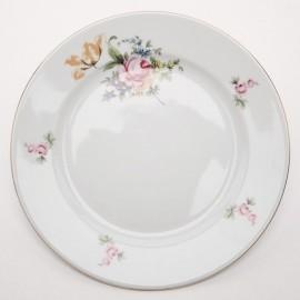 Тарелка десертная 19 см. 6 шт. Ивон OMD1811 Мейсенский букет из фарфора Crystalex