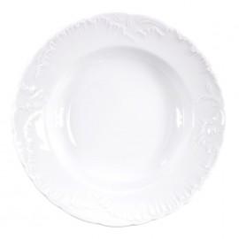 Тарелка глубокая 22,5см Rococo из фарфора Сmielow