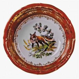 Салатник 15,5 см. Мария ТерезаOMD1051/2 Охота красная из фарфора Crystalex