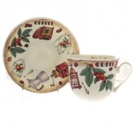 Время пить кофе чайная пара для завтрака 500 мл COCOFT1101