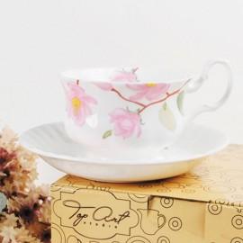 Цветущая магнолия чайная пара для завтрака 400 мл LD2230-TA