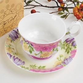 Вальс цветов чайная пара для завтрака 400 мл LD2232-TA