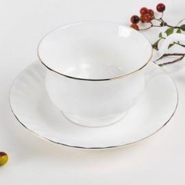 Золотой берег чайная пара для завтрака 400 мл LD2235-TA