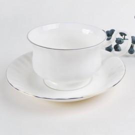 Платиновый берег чайная пара для завтрака 400 мл LD2236-TA