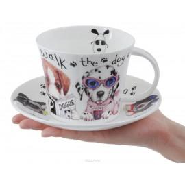 Собаки модники чайная пара для завтрака 500 мл XANIDOG1110