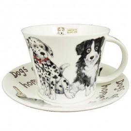 Собаки дома чайная пара для завтрака 500 мл XDOG1110