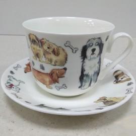 Собачьи Истории чайная пара для завтрака 500 мл XDTALES1100