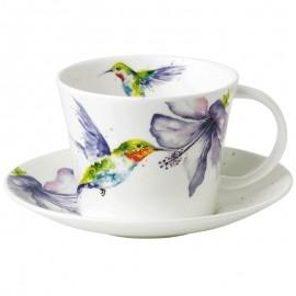 Колибри в цветах чайная пара для завтрака 500 мл XHUM1114