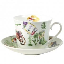 В саду чайная пара для завтрака 500 мл XINT1100