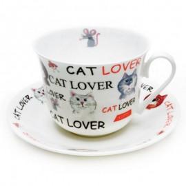 Обожаю кошек чайная пара для завтрака 500 мл XLOVC1100