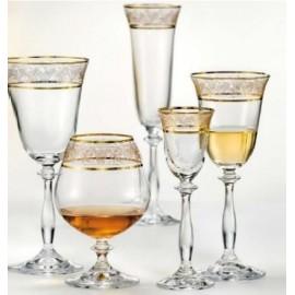Бокалы для шампанского Анжела 40600/437586 190 мл. 6 шт. Crystalex Bohemia