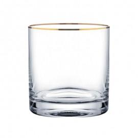 Стаканы для виски Барлайн 20733 золотая отводка 280 мл. 6 шт. Crystalex Bohemia