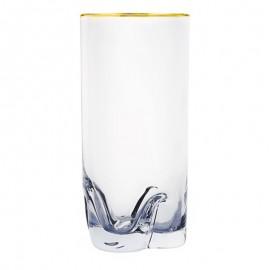 Стаканы для воды Барлайн Трио 25089/20733/133 золотая отводка 280 мл. 6 шт. Crystalex Bohemia