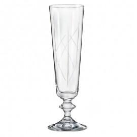 Бокалы для шампанского Белла 40412/K0515 205 мл. 6 шт. Crystalex Bohemia