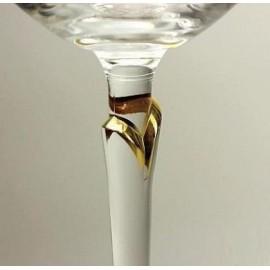 Рюмка Бриджита 200055 золотой лепесток объёмом 60 мл. 6 шт. Crystalex Bohemia