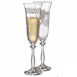 Бокалы для шампанского Анжела 40600/28010 Royal 190 мл. 6 шт. Crystalex Bohemia