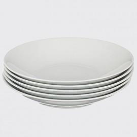 Тарелка глубокая 22 см 6 шт Виола из фарфора Starorolsky Porcelan