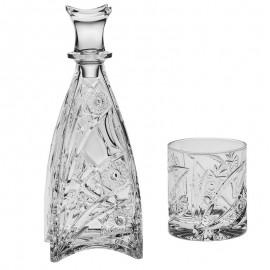 Набор для виски Murinas 1 штоф 750 мл + 6 стаканов 300 мл из хрусталя Crystal Bohemia